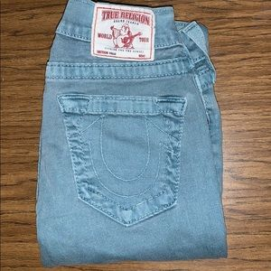True religion light blue jeans